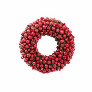 Věnec umělý červené bobule 33cm