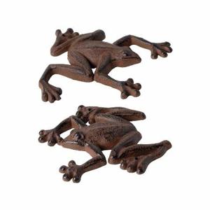 Žába nástěnná dekorace litina
